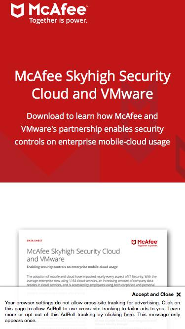 McAfee Skyhigh Security Cloud and VMware