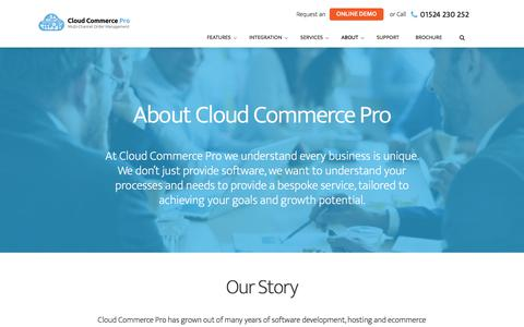Screenshot of About Page cloudcommercepro.com - About Cloud Commerce Pro & Who We Are - captured July 7, 2018