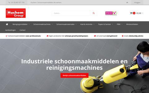Screenshot of Home Page huchem.nl - Professionele schoonmaakmiddelen - online groothandel - Huchem - captured Sept. 14, 2017