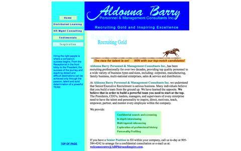 Screenshot of Testimonials Page abphireandinspire.com - Senior Position and Executive Recruiting - captured Oct. 4, 2014
