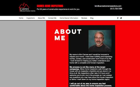 Screenshot of About Page carneshomeinspections.com - About Me | Carnes Home Inspections - captured July 16, 2018