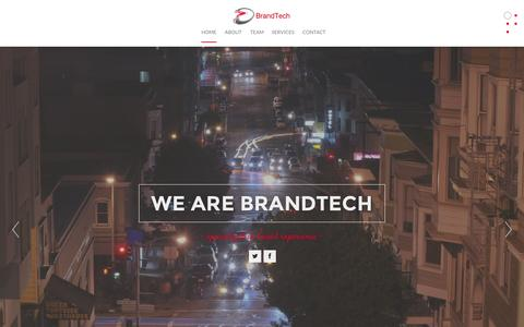 Screenshot of Home Page brandtech.co - Marketing Consultancy - Brand, CRM, Go-to-market Strategies - captured Oct. 5, 2014