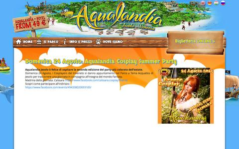 Screenshot of Press Page aqualandia.it - News - Aqualandia Jesolo - captured Sept. 19, 2014