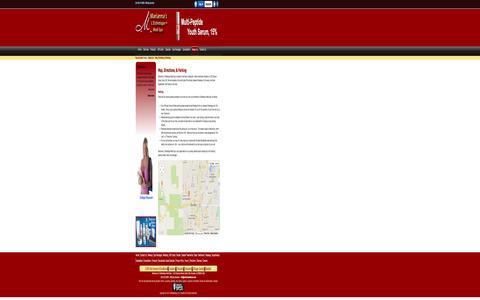 Screenshot of Maps & Directions Page mariannaskincare.com - Map, Directions, & Parking - Marianna's L'Esthetique Medi Spa, Boulder Colorado - captured Oct. 27, 2014