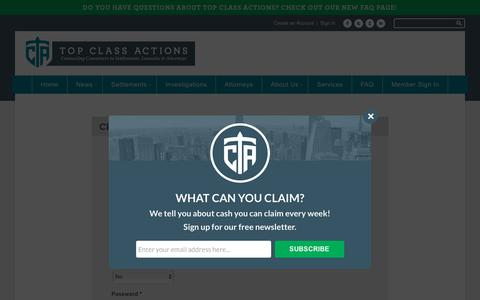 Screenshot of Signup Page topclassactions.com - Sign Up - Top Class Actions - captured Oct. 27, 2017