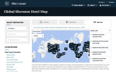 Screenshot of Maps & Directions Page starwoodhotels.com - Sheraton Hotel Map | Explore Luxury Hotel Destinations - captured Nov. 29, 2016