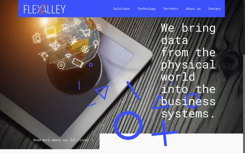 Screenshot of Home Page flexvalley.com - FlexValley – We bring machines to new life - captured Aug. 13, 2018