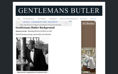 Screenshot of Team Page gentlemansbutler.com - Gentlemans Butler Background | Gentlemans Butler - captured Oct. 27, 2014