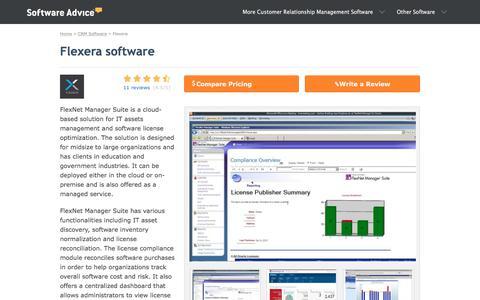 Flexera Software - 2018 Reviews, Pricing & Demo