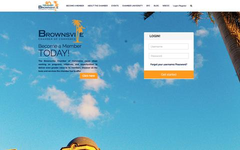 Screenshot of Home Page brownsvillechamber.com - BROWNSVILLE – Chamber of Commerce - captured Oct. 11, 2017