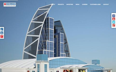 Screenshot of Home Page omaxe.com - Residential,Commercial and Integrated Townships Projects | Omaxe - captured Aug. 5, 2015