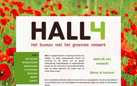 Screenshot of Home Page hall4.nl - Start - HALL4 Het bureau met het groenste netwerk! - captured Oct. 3, 2016
