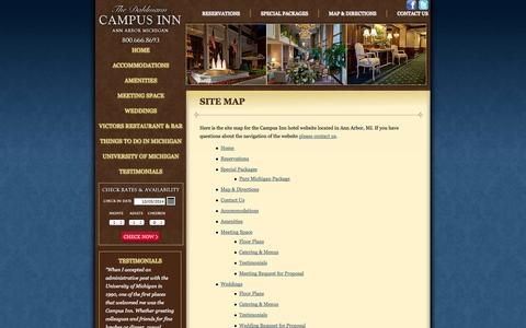 Screenshot of Site Map Page campusinn.com - Site Map - Campus Inn - captured Oct. 5, 2014