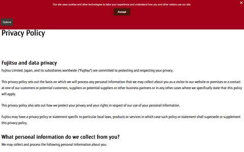 Privacy Policy : Fujitsu Global