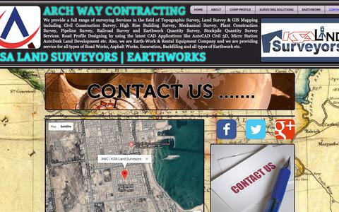 Screenshot of Contact Page ksalandsurveyors.com - Contact Us | KSA LAND SURVEYORS - captured Oct. 14, 2018