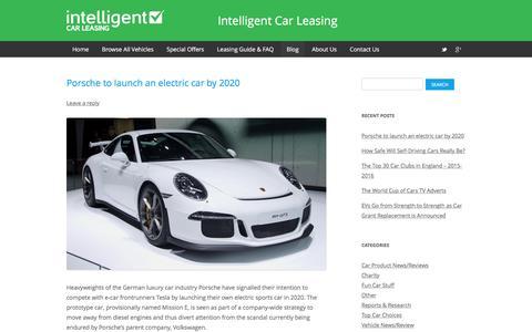 Screenshot of Blog intelligentcarleasing.com - UK Car Blog & News   Intelligent Car Leasing - captured Jan. 9, 2016