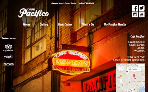 Screenshot of Home Page cafe-pacifico.com - Cafe Pacifico Mexican Restaurant | 5 Langley St | Covent Garden - captured Jan. 28, 2015