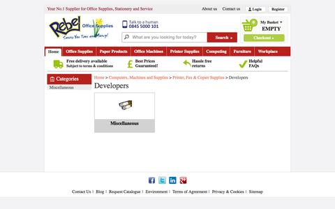 Screenshot of Developers Page rebelofficesupplies.co.uk - Developers   Rebel Office Supplies - captured Sept. 30, 2014