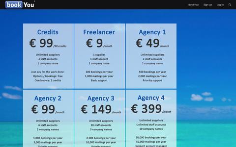Screenshot of Pricing Page bookyou.com - BookYou     Pricing - captured Oct. 29, 2014