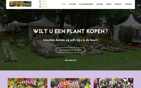 Screenshot of Home Page meersvpk.be - Meers Vaste Plantenkwekerij - Home - captured Oct. 17, 2018
