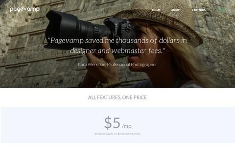 Screenshot of Pricing Page pagevamp.com - Pricing   Pagevamp - captured July 19, 2014