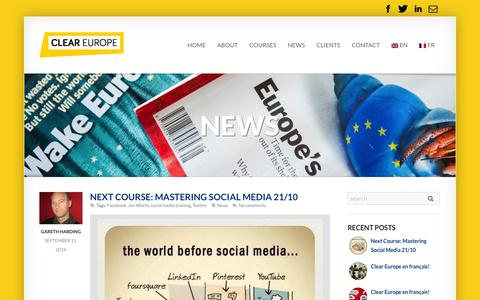 Screenshot of Press Page cleareurope.eu - News Archives - Clear Europe - captured Sept. 30, 2014