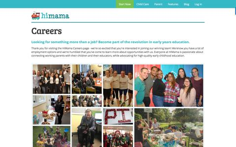 Screenshot of Jobs Page himama.com - HiMama - Careers - captured April 26, 2018