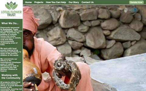 Screenshot of Testimonials Page lotusflowertrust.org - Testimonials | Lotus Flower Trust - captured Sept. 30, 2014