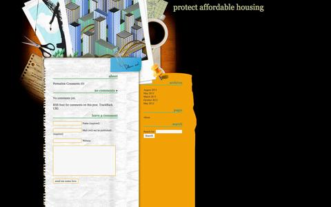 Screenshot of About Page protectaffordablehousing.org - Protect Affordable Housing » About - captured Oct. 1, 2014
