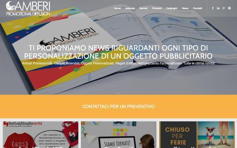Screenshot of Press Page gamberipromo.it - GAMBERI Promoregalo - news su nuovi articoli promozionali - captured Sept. 27, 2018