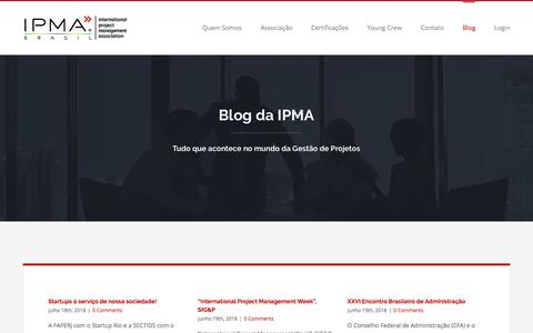 Screenshot of Blog ipmabrasil.org - Blog - IPMA Brasil - captured July 27, 2018