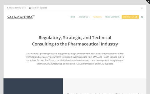 Screenshot of Services Page salamandra.net - Services – Salamandra, LLC - captured Oct. 2, 2018