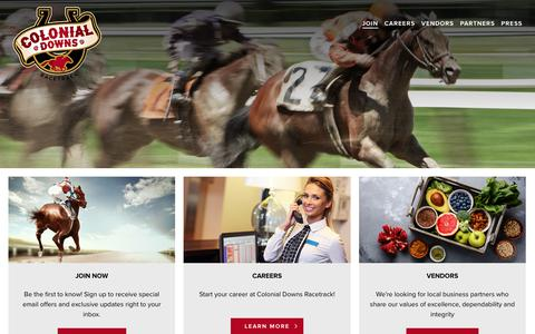 Screenshot of Signup Page colonialdowns.com - Join The Club - Colonial Downs Racetrack | New Kent, Virginia - captured July 20, 2018