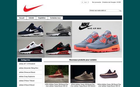 Screenshot of Home Page lachouetterisoul.fr - Nike et Adidas chaussures en ligne pas cher en France en 2018. - captured Oct. 28, 2018