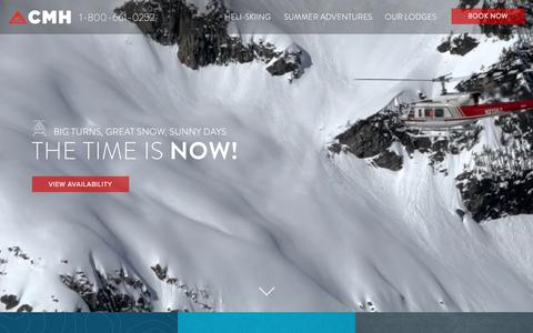 Screenshot of Home Page canadianmountainholidays.com - Canadian Heli-Skiing & Summer Adventures | CMH - captured June 27, 2017