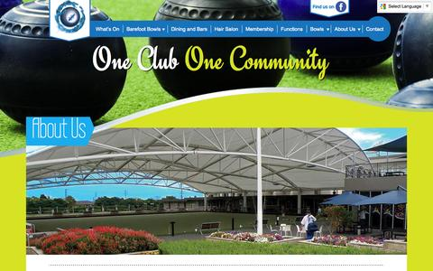 Screenshot of About Page cabrabowls.com.au - About Us - Cabramatta Bowling Club - captured Oct. 28, 2014