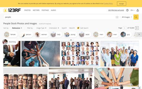 Screenshot of Team Page 123rf.com - People Stock Photos And Images - 123RF - captured July 24, 2019