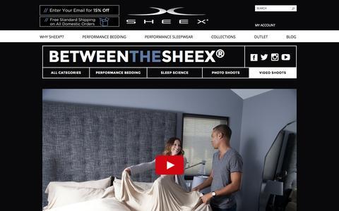 Screenshot of Blog sheex.com - SHEEX® Performance Bedding & Sleepwear First Impressions of SHEEX® With Mr. & Mrs. Craft - SHEEX® Performance Bedding & Sleepwear - captured Jan. 19, 2016