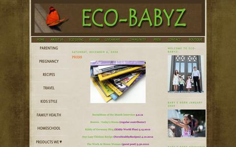 Screenshot of Press Page eco-babyz.com - Eco-Babyz: PRESS - captured Dec. 7, 2015