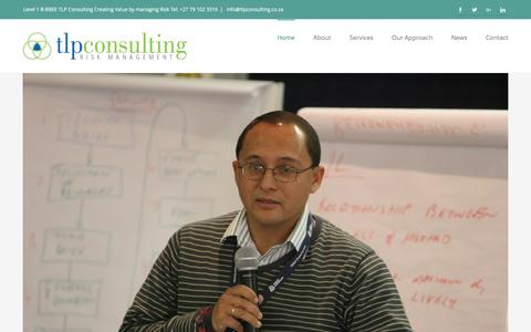 Screenshot of Home Page tlpconsulting.co.za - Home - TLP Consulting - captured Dec. 3, 2016
