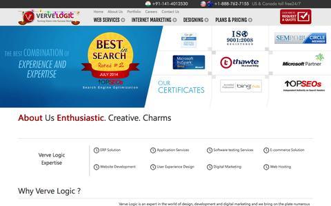 Screenshot of About Page vervelogic.com - Verve Logic   About Us - captured Oct. 26, 2014