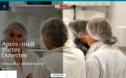 Screenshot of Home Page purpan.fr - Accueil - École d'Ingénieurs de Purpan - captured Dec. 14, 2018