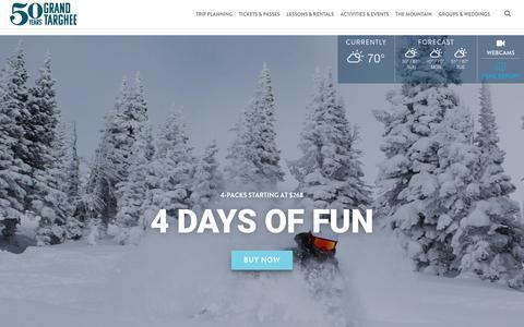 Screenshot of Home Page grandtarghee.com - Grand Targhee Ski Resort & Bike Park in Alta, Wyoming - captured Sept. 30, 2018