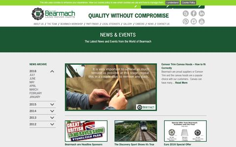 Screenshot of Press Page bearmach.com - News - Bearmach - captured July 28, 2016