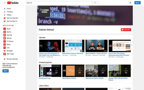 Flatiron School  - YouTube