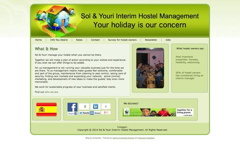 Screenshot of Services Page solyourihm.com - Sol & Youri Interim Hostel Management: What & How - captured Oct. 6, 2014