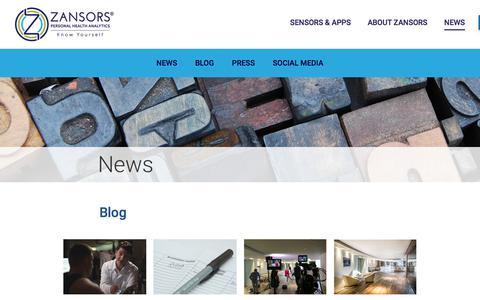 Screenshot of Press Page zansors.com - News — Zansors - captured June 19, 2017