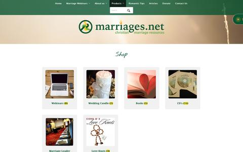 Screenshot of Products Page marriages.net - Products Archive - Marriages.net - captured Nov. 15, 2016
