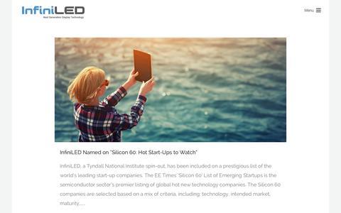 Screenshot of Press Page infiniled.com - News | High Brightness Displays | InfiniLED - captured Jan. 8, 2016