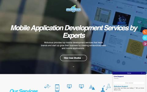 Screenshot of Services Page mobulous.com - Mobile Application Development Services by Experts - Mobulous - captured July 4, 2018